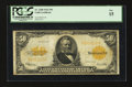 Large Size:Gold Certificates, Fr. 1200 $50 1922 Gold Certificate PCGS Fine 15....