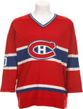 Hockey Collectibles:Uniforms, 1977-78 Guy Lafleur Game Worn Jersey....