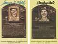 Autographs:Post Cards, Don Drysdale and George Kelly Signed HOF Postcards.... (Total: 2items)