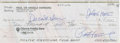Football Collectibles:Balls, 1992 Paul Hornung Signed Check....