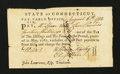 Colonial Notes:Connecticut, Connecticut Fiscal Paper. Pay Table Office. August 6, 1782. Extremely Fine....