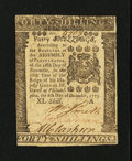 Colonial Notes:Pennsylvania, Pennsylvania December 8, 1775 40s Choice New....