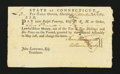 Colonial Notes:Connecticut, Connecticut Fiscal Paper. Pay Table Office. September 20, 1781.Extremely Fine....