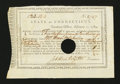 Colonial Notes:Connecticut, Connecticut Fiscal Paper. Treasury Office. February 1, 1789.Extremely Fine-About New....
