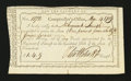 Colonial Notes:Connecticut, Connecticut Fiscal Paper. Interest Due. March 4, 1789. ExtremelyFine....