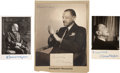 Photography:Signed, W. Somerset Maugham. Three Maugham Portraits, Signed by Maugham.... (Total: 3 Items)