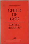 Books:First Editions, Cormac McCarthy. Child of God. New York: RandomHouse, 1973.. Uncorrected first proof. Octavo. 197 pages.. R...