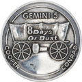 Explorers:Space Exploration, Gemini 5 Flown Fliteline Sterling Silver Medallion Originally fromthe Personal Collection of Mission Pilot Charles Conrad....