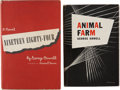 Books:First Editions, George Orwell. Two First Editions, including: Animal Farm.New York: Harcourt, Brace and Company, 1946. First Americ...(Total: 2 Items)