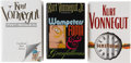 Books:First Editions, Kurt Vonnegut. Three Signed First Editions, including: BagomboSnuff Box. New York: Putnam, 1999. [and:] Timequa... (Total:3 Items)