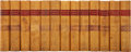Books:Fiction, Sir Walter Scott. Two Leather Bound Sets, including: WaverleyNovels. New York: George Routledge and Sons, [n. d.]. ...(Total: 37 Items)