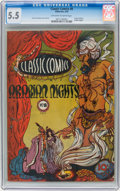Golden Age (1938-1955):Classics Illustrated, Classic Comics #8 Arabian Nights - Original Edition (Gilberton,1943) CGC FN- 5.5 Off-white to white pages....