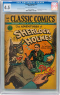 Golden Age (1938-1955):Classics Illustrated, Classic Comics #33 The Adventures of Sherlock Holmes - OriginalEdition (Gilberton, 1947) CGC VG+ 4.5 Light tan to off-white p...