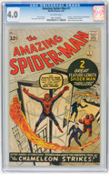 Silver Age (1956-1969):Superhero, The Amazing Spider-Man #1 (Marvel, 1963) CGC VG 4.0 Off-whitepages....