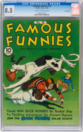 Golden Age (1938-1955):Miscellaneous, Famous Funnies #76 Lost Valley pedigree (Eastern Color, 1940) CGC VF+ 8.5 Cream to off-white pages....