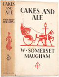 Books:First Editions, W. Somerset Maugham. Cakes and Ale. London: Heinemann,[1930].. First edition, second state. Inscribed by Maugha...