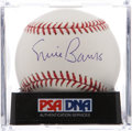 Autographs:Baseballs, Ernie Banks Single Signed Baseball PSA Mint+ 9.5. ...