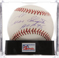 Autographs:Baseballs, Enos Slaughter Single Signed Baseball PSA NM-MT+ 8.5. ...