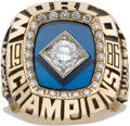 Baseball Collectibles:Others, 1986 Lenny Dykstra New York Mets World Championship Ring....
