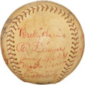 Autographs:Baseballs, 1937 Washington Senators Team Signed Baseball. ...