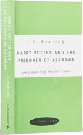 Books:First Editions, J. K. Rowling. Harry Potter and the Prisoner of Azkaban.[London]: Bloomsbury, [1999].. The uncorrected proof ...