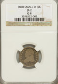 Bust Dimes: , 1820 10C Small 0 G4 NGC. JR-2. PCGS Population (0/14). NumismediaWsl. Price for NGC/PCGS coin in G4 :...