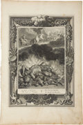 Antiques:Posters & Prints, Bernard Picart. One Engraving: The Death of Hercules. Goodcondition....