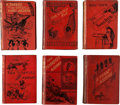 Books:Fiction, Mark Twain. Six English Editions, all in the original decorated redcloth, published between 1880 and 1893. In good or b... (Total: 6Items)