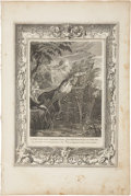 Antiques:Posters & Prints, Bernard Picart. One Engraving: Pan Pursues Syrinx; She isMetamorphosed into a Reed. Good condition....