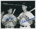 Autographs:Photos, Ted Williams and Stan Musial Signed Photograph....
