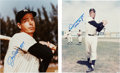 Autographs:Photos, Joe DiMaggio and Willie Mays Signed Photographs. ... (Total: 2items)