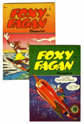 "Golden Age (1938-1955):Funny Animal, Foxy Fagan Comics #6 and 7 Davis Crippen (""D"" Copy) pedigree Group (Dearfield, 1948).... (Total: 2 Comic Books)"