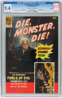 Movie Classics: Die, Monster, Die #nn File Copy (Dell, 1966) CGC NM 9.4 Off-white to white pages