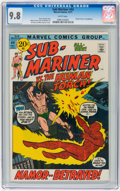 Bronze Age (1970-1979):Superhero, The Sub-Mariner #44 (Marvel, 1971) CGC NM/MT 9.8 White pages....