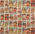Non-Sport Cards:Other, 1960's Japanese Menko TV Westerns Uncut Sheet. ...