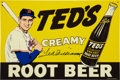 Autographs:Others, Ted Williams Signed Tin Advertising Sign. ...