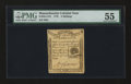 Colonial Notes:Massachusetts, Massachusetts 1779 4s PMG About Uncirculated 55....
