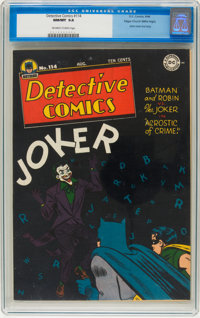 Detective Comics #114 Mile High pedigree (DC, 1946) CGC NM/MT 9.8 Off-white to white pages