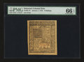 Colonial Notes:Delaware, Delaware January 1, 1776 6s PMG Gem Uncirculated 66 EPQ....