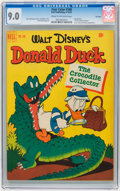 Golden Age (1938-1955):Cartoon Character, Four Color #348 Donald Duck - File Copy (Dell, 1951) CGC VF/NM 9.0Cream to off-white pages....