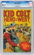 Golden Age (1938-1955):Western, Kid Colt Outlaw #2 (Atlas/Marvel, 1948) CGC VF+ 8.5 Off-white towhite pages....