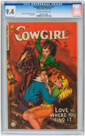 Golden Age (1938-1955):Western, Cowgirl Romances #11 (Fiction House, 1952) CGC NM 9.4 Off-white towhite pages....