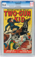 Golden Age (1938-1955):Western, Two-Gun Kid #2 (Atlas, 1948) CGC NM 9.4 Off-white to whitepages....
