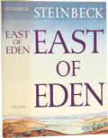 Books:First Editions, John Steinbeck. East of Eden. New York: The Viking Press,1952. First edition. Octavo, 602 pages. Original cloth, du...