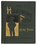 Books:First Editions, Mark Twain. E. W. Kemble [illustrator]. Adventures ofHuckleberry Finn (Tom Sawyer¹s Comrade). With one hundred and...