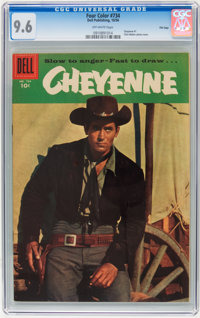 Four Color #734 Cheyenne - File Copy (Dell, 1956) CGC NM+ 9.6 Off-white pages