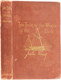 Books:First Editions, Jules Verne. The Tour of the World in 80 Days. Boston: JamesR. Osgood, 1873. First American edition, later issu...