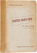 Books:First Editions, George Orwell. Nineteen Eighty-Four. New York: Harcourt,Brace and Company, [1949]. Advance Review Copy. Octavo. 314...