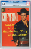 Silver Age (1956-1969):Western, Four Color #803 Cheyenne - File Copy (Dell, 1957) CGC NM 9.4Off-white pages....