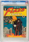 Golden Age (1938-1955):Superhero, Flash Comics #21 (DC, 1941) CGC NM 9.4 Off-white to white pages....